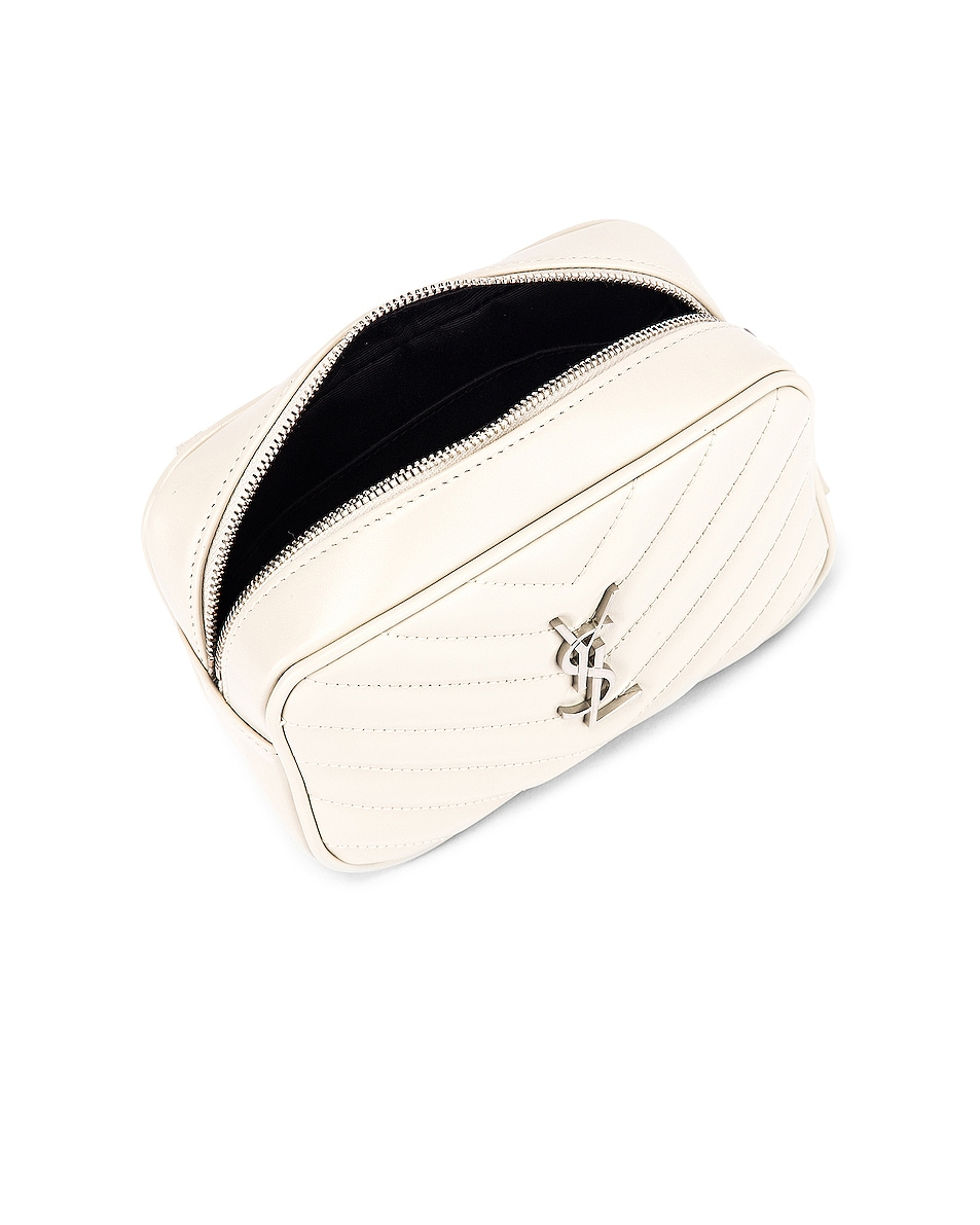 Image 5 of Saint Laurent Lou Leather Belt Bag in Crema Soft