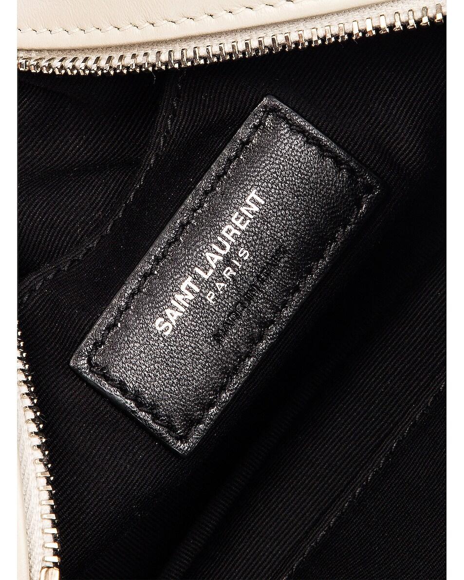 Image 6 of Saint Laurent Lou Leather Belt Bag in Crema Soft