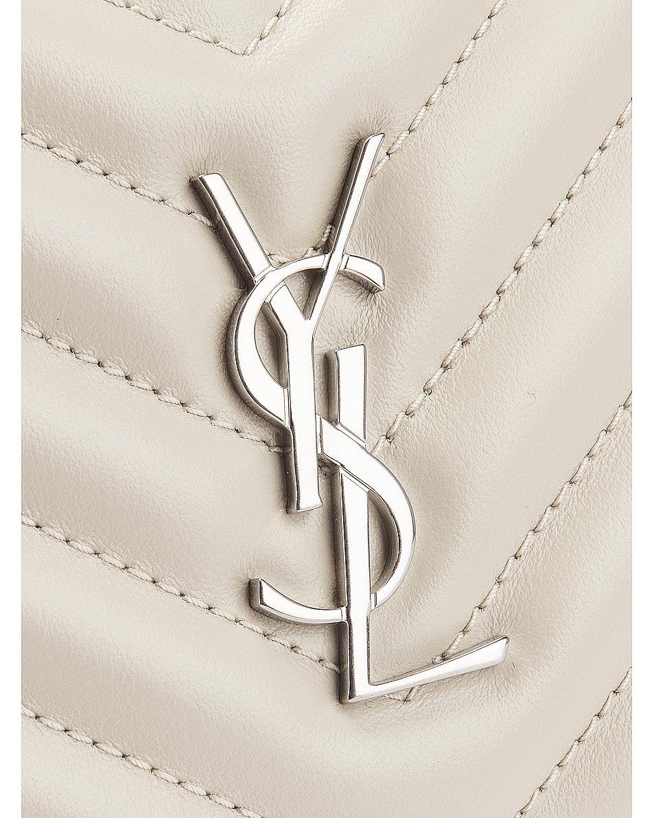 Image 7 of Saint Laurent Lou Leather Belt Bag in Crema Soft
