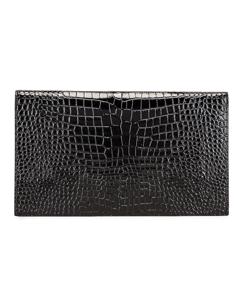 Image 3 of Saint Laurent Uptown Medium Envelope Clutch in Black