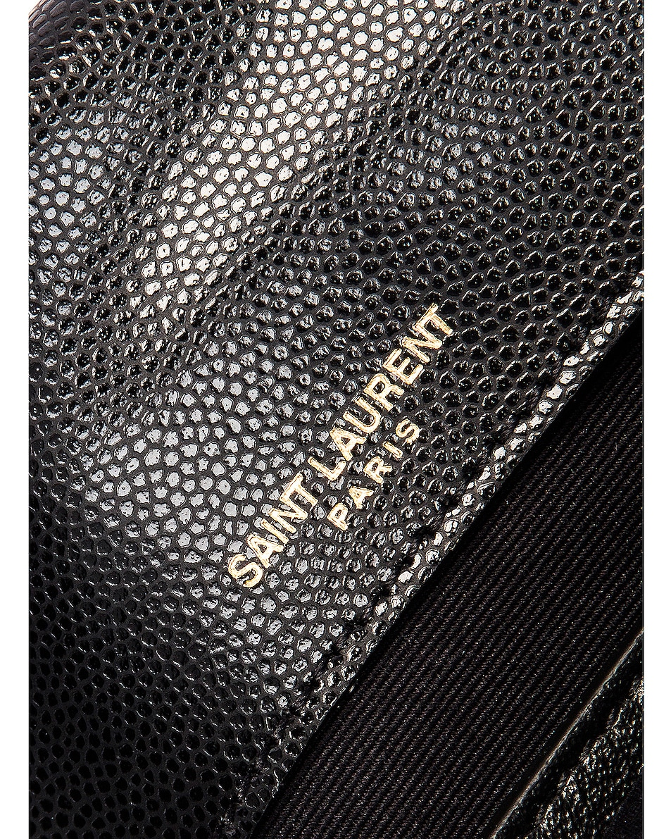 Image 7 of Saint Laurent Leather Tribeca Chain Wallet Bag in Black