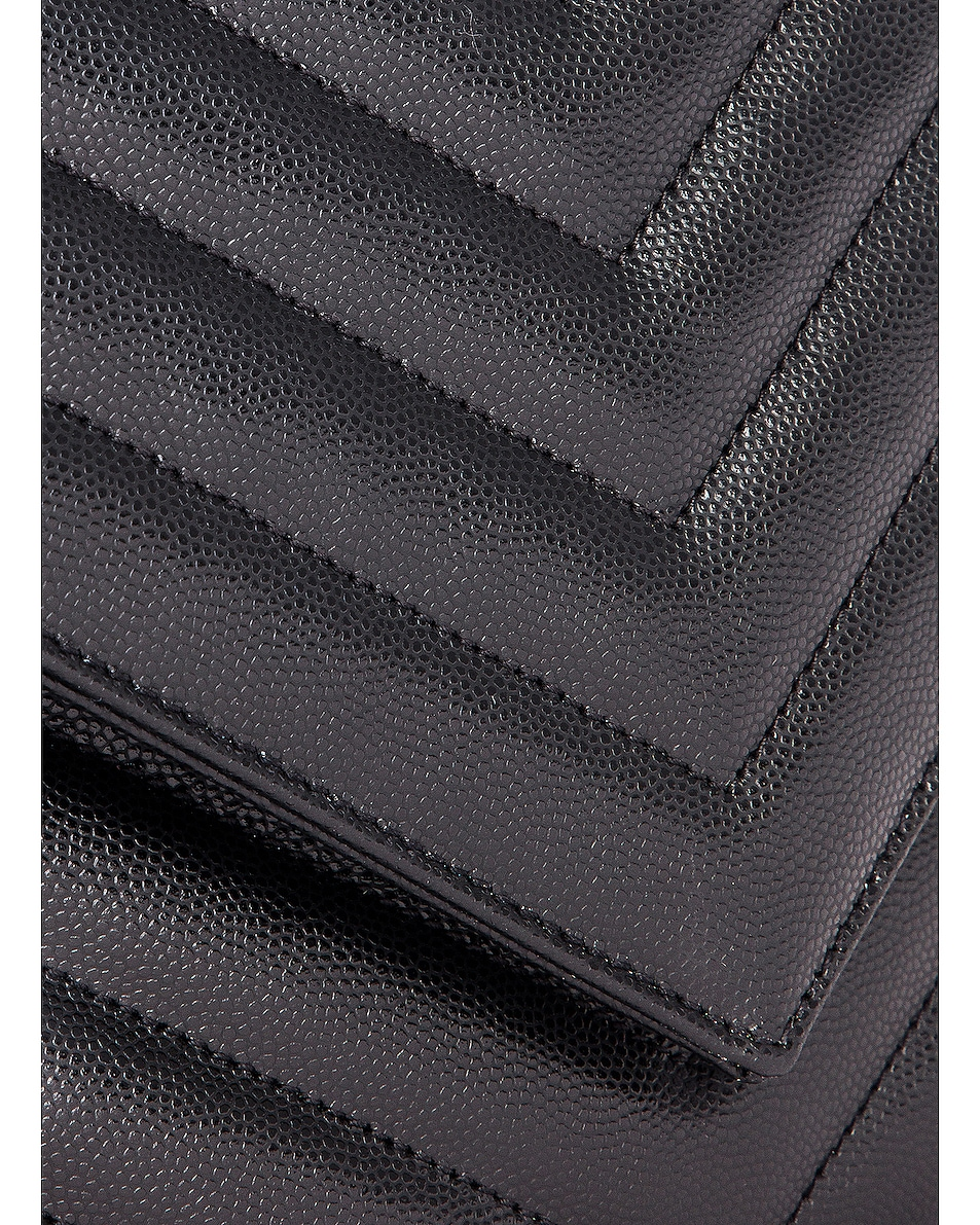 Image 8 of Saint Laurent Leather Tribeca Chain Wallet Bag in Black
