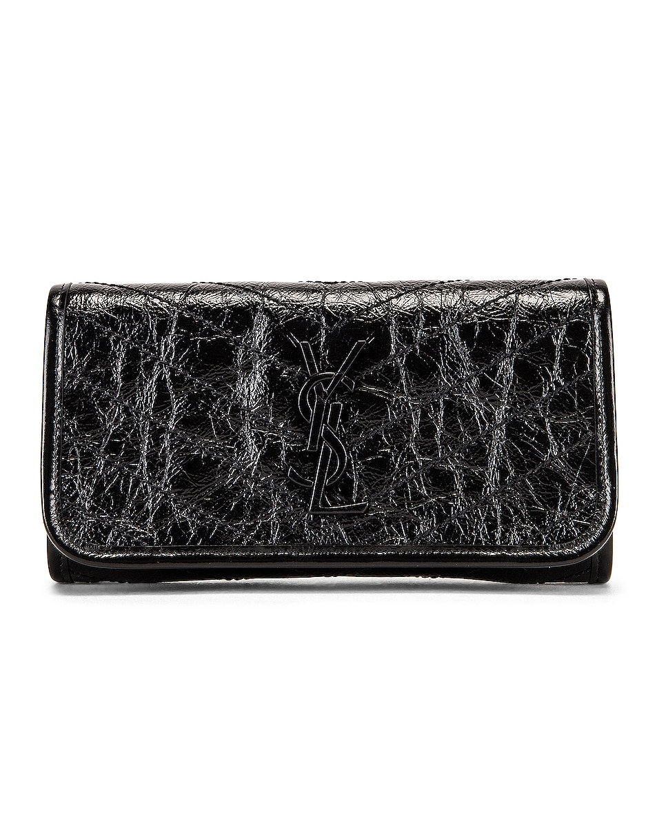 Image 1 of Saint Laurent Niki Wallet in Black