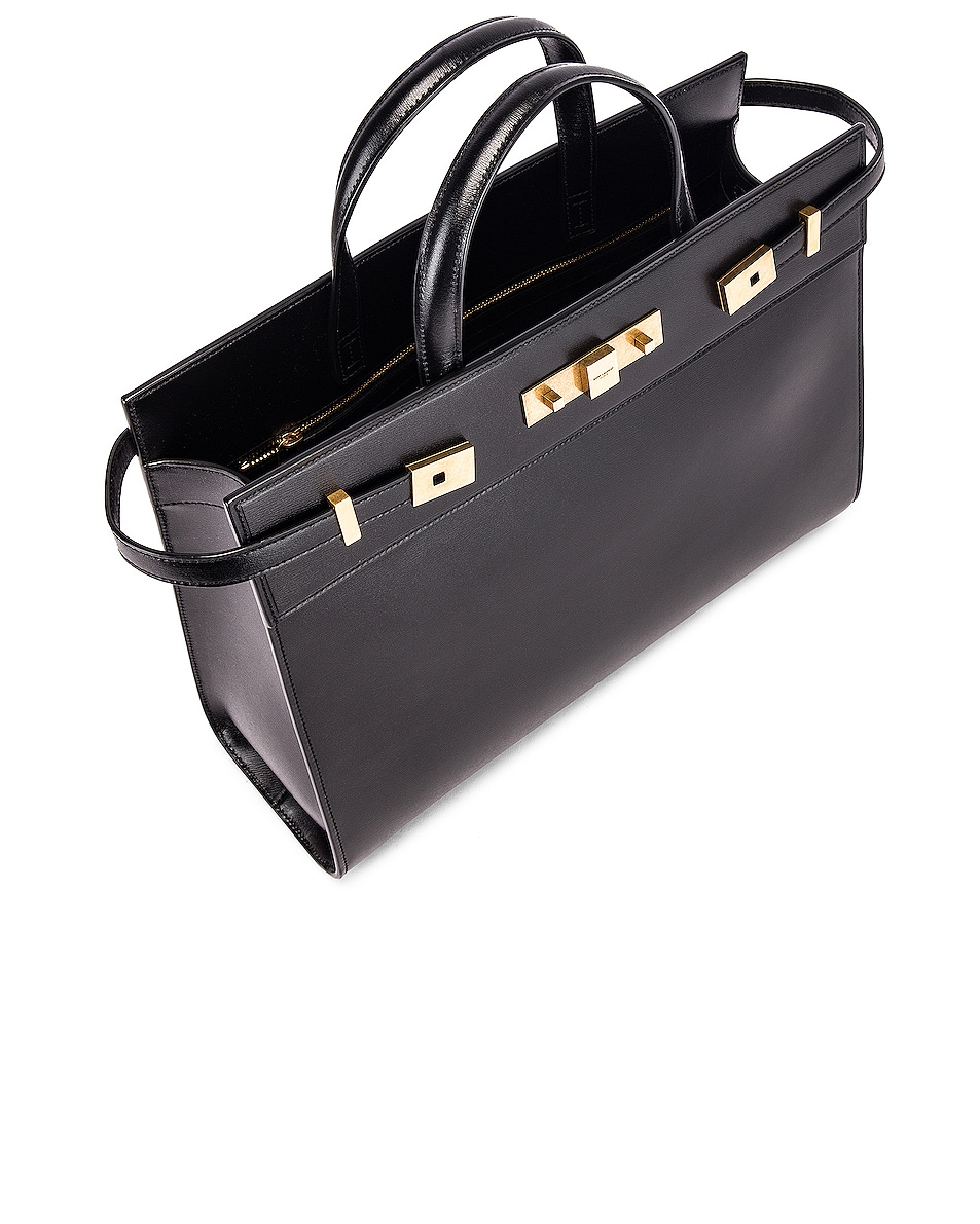 Image 5 of Saint Laurent Small Manhattan Shopping Bag in Black