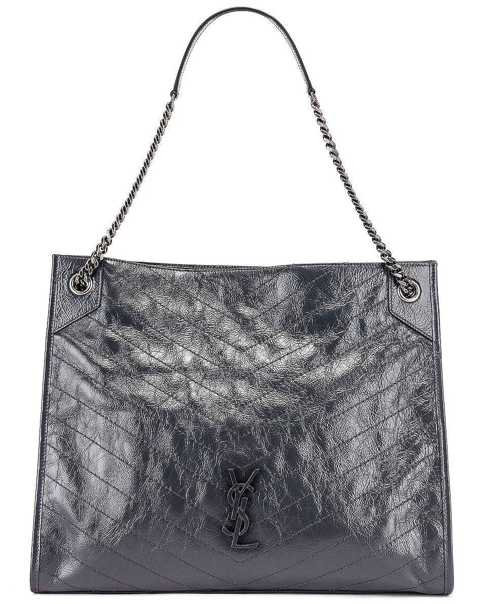 Image 1 of Saint Laurent Monogramme Niki Shoulder Bag in Dark Smog