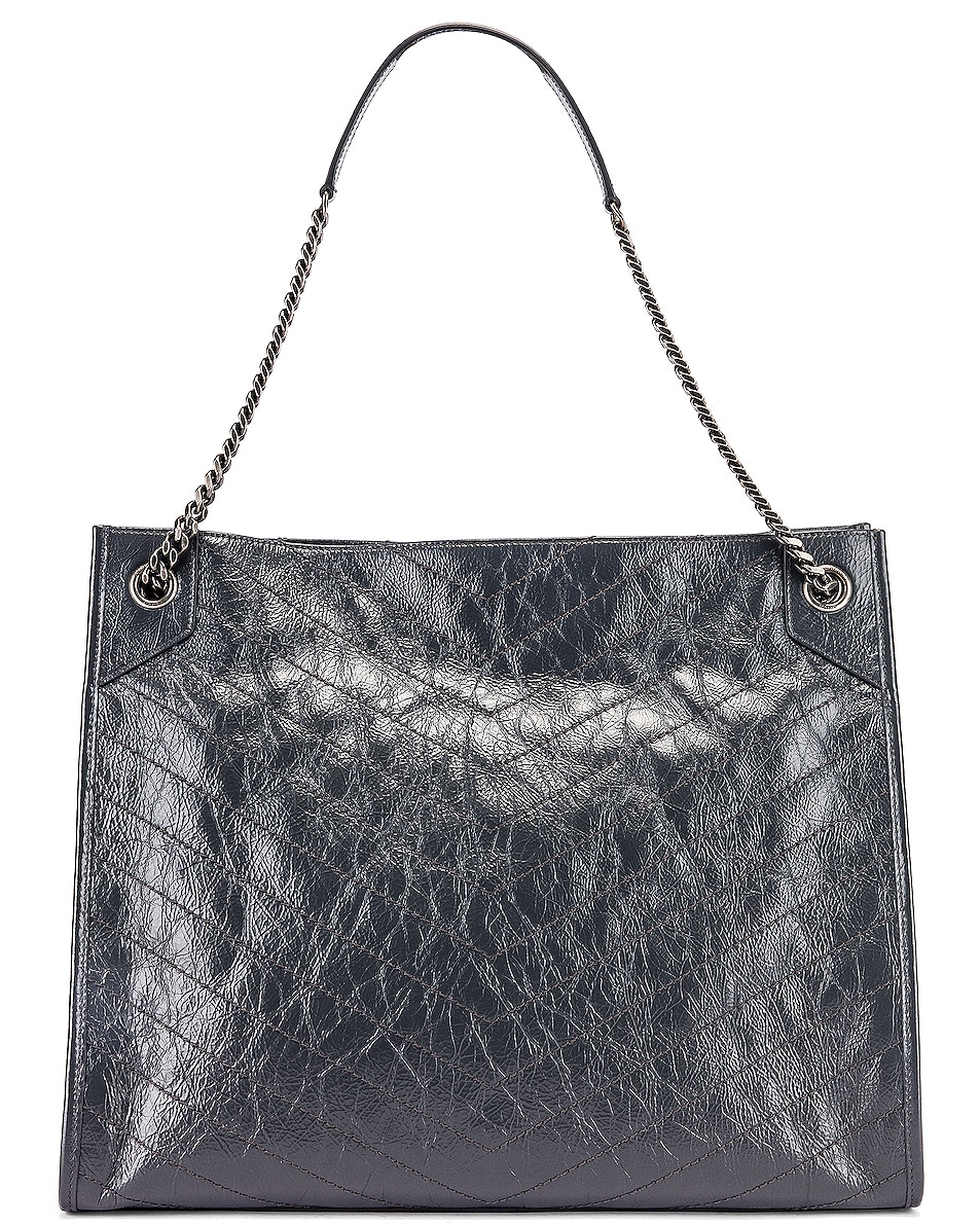 Image 3 of Saint Laurent Monogramme Niki Shoulder Bag in Dark Smog