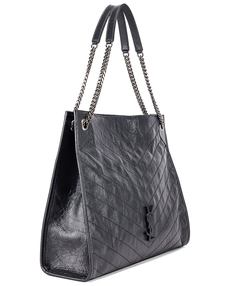 Image 4 of Saint Laurent Monogramme Niki Shoulder Bag in Dark Smog