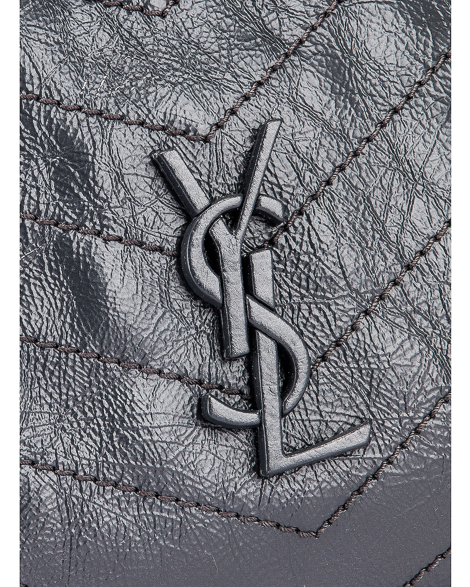 Image 6 of Saint Laurent Monogramme Niki Shoulder Bag in Dark Smog