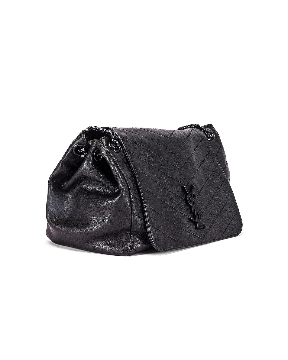 Image 4 of Saint Laurent Monogramme Nolita Shoulder Bag in Black