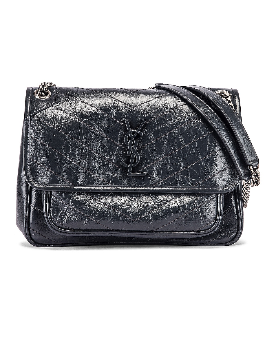 Image 1 of Saint Laurent Medium Niki Monogramme Chain Bag in Dark Smog