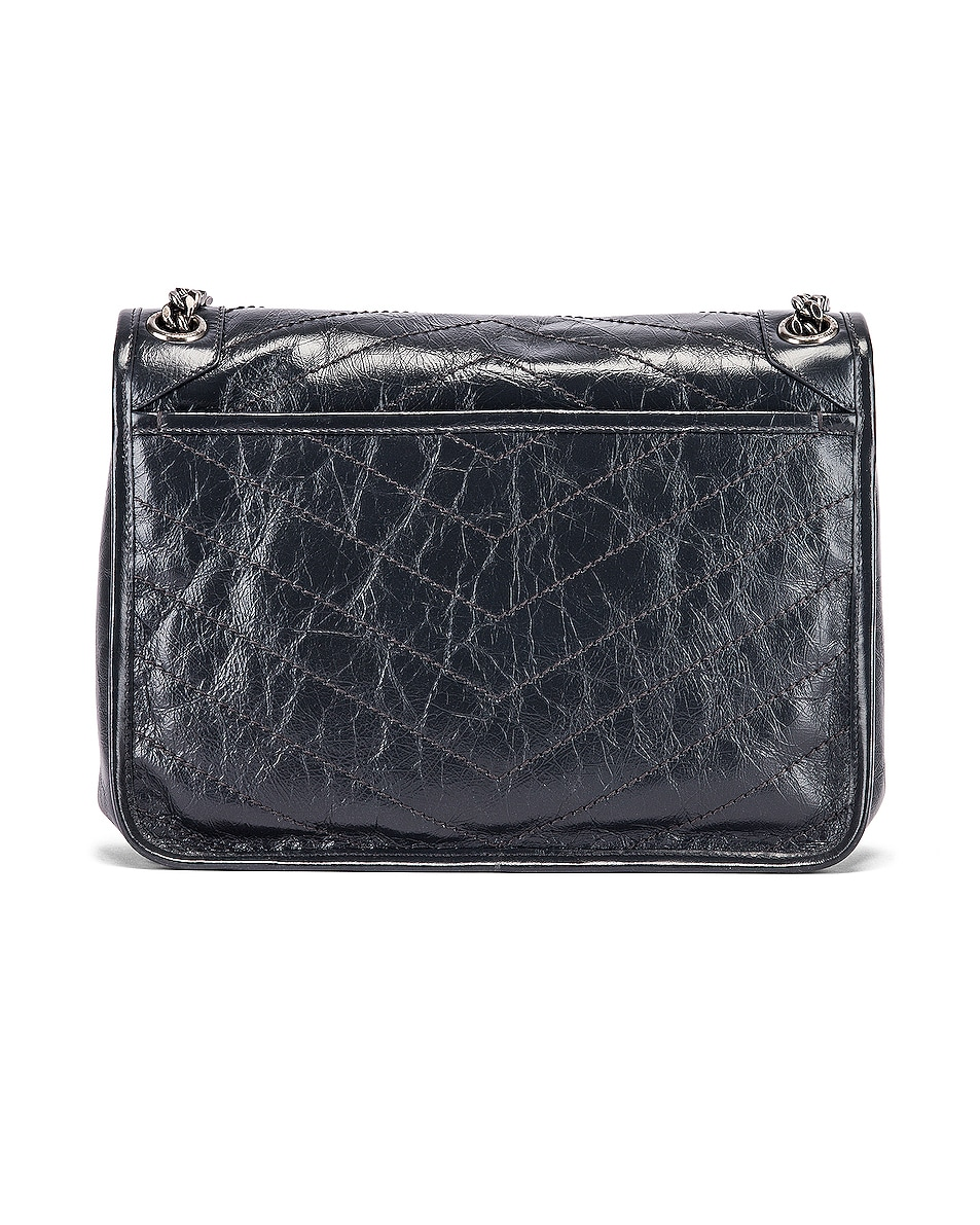 Image 3 of Saint Laurent Medium Niki Monogramme Chain Bag in Dark Smog