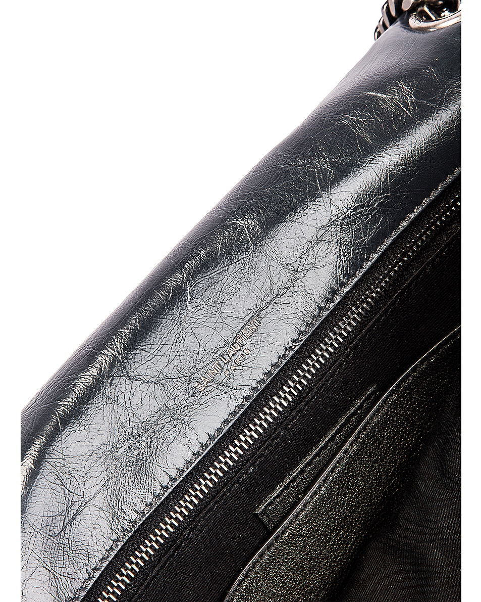 Image 7 of Saint Laurent Medium Niki Monogramme Chain Bag in Dark Smog