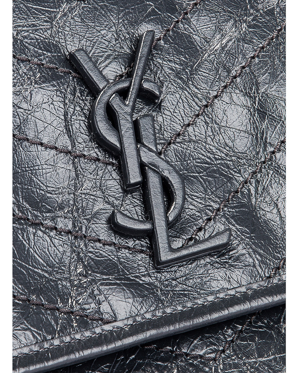 Image 8 of Saint Laurent Medium Niki Monogramme Chain Bag in Dark Smog