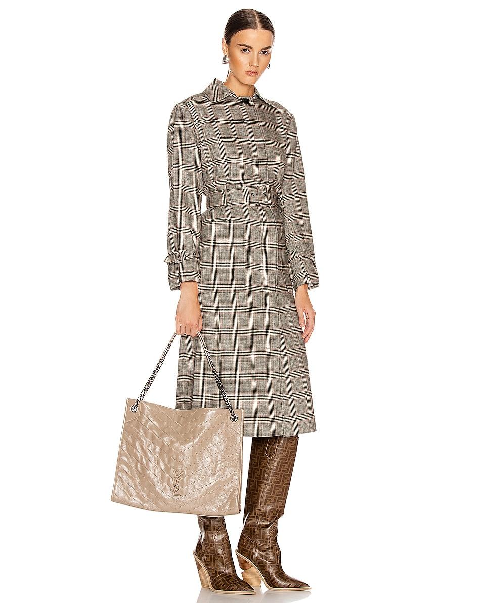 Image 2 of Saint Laurent Monogramme Niki Shoulder Bag in Dusty Grey