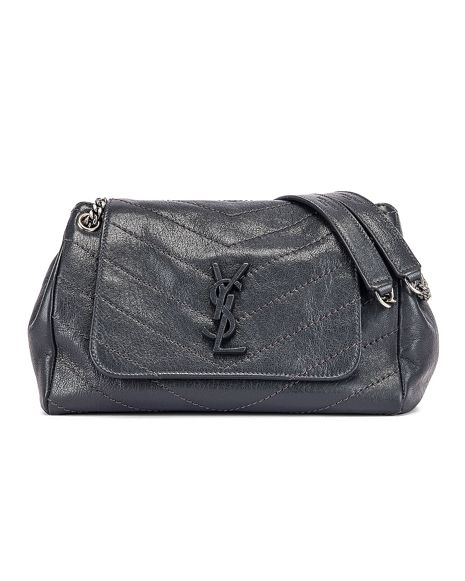 Image 1 of Saint Laurent Monogramme Nolita Shoulder Bag in Dark Smog