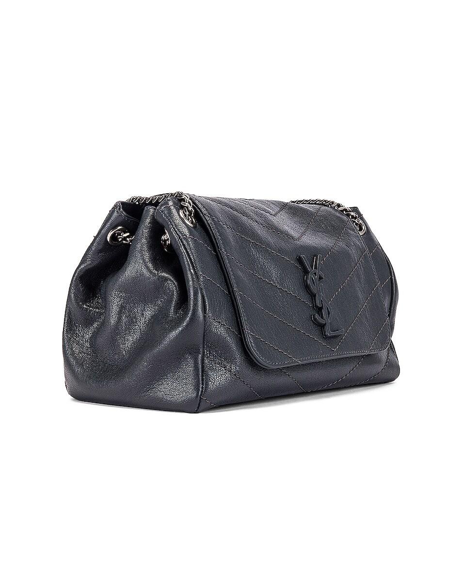 Image 4 of Saint Laurent Monogramme Nolita Shoulder Bag in Dark Smog