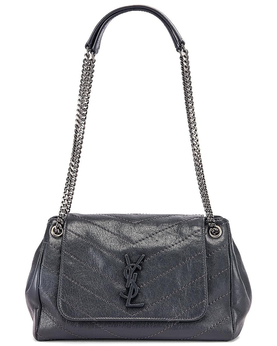 Image 6 of Saint Laurent Monogramme Nolita Shoulder Bag in Dark Smog