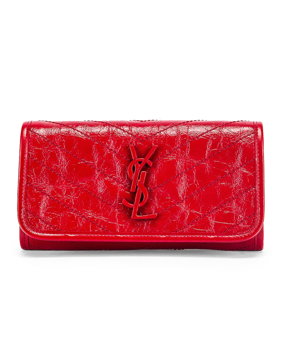 Image 1 of Saint Laurent Niki Wallet in Red