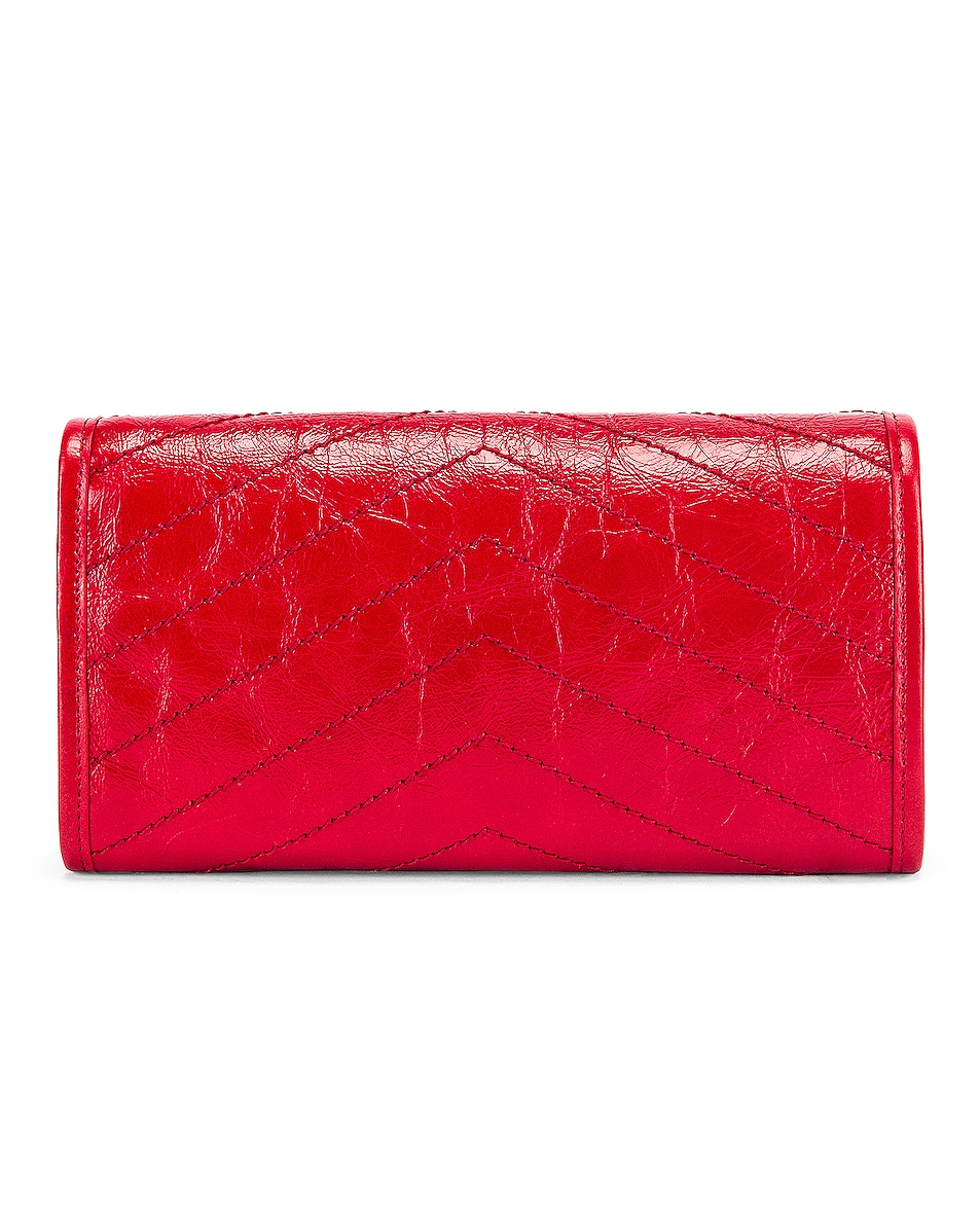 Image 2 of Saint Laurent Niki Wallet in Red