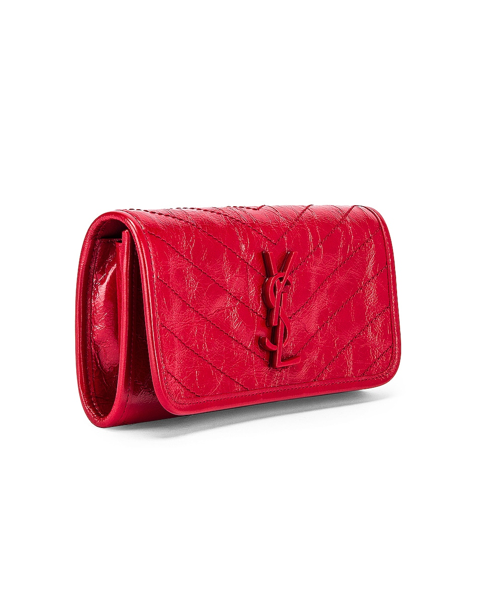 Image 3 of Saint Laurent Niki Wallet in Red