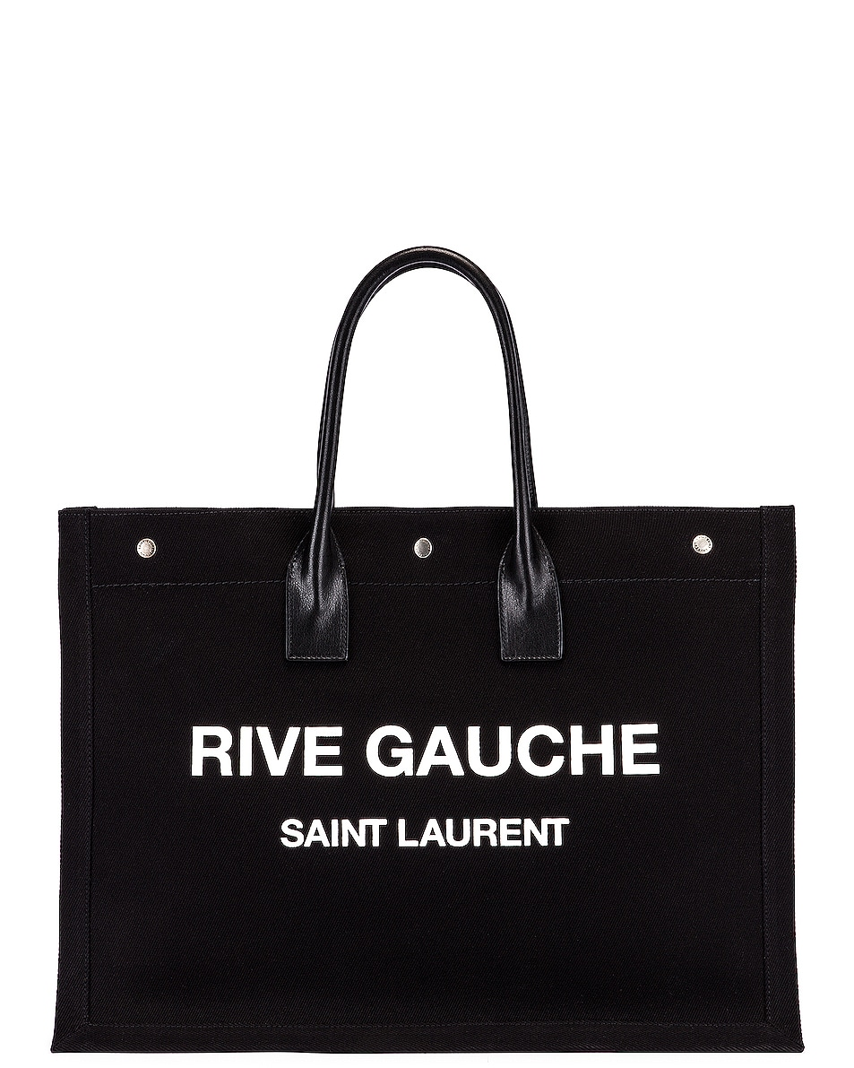 Image 1 of Saint Laurent Noe Tote in Black & White