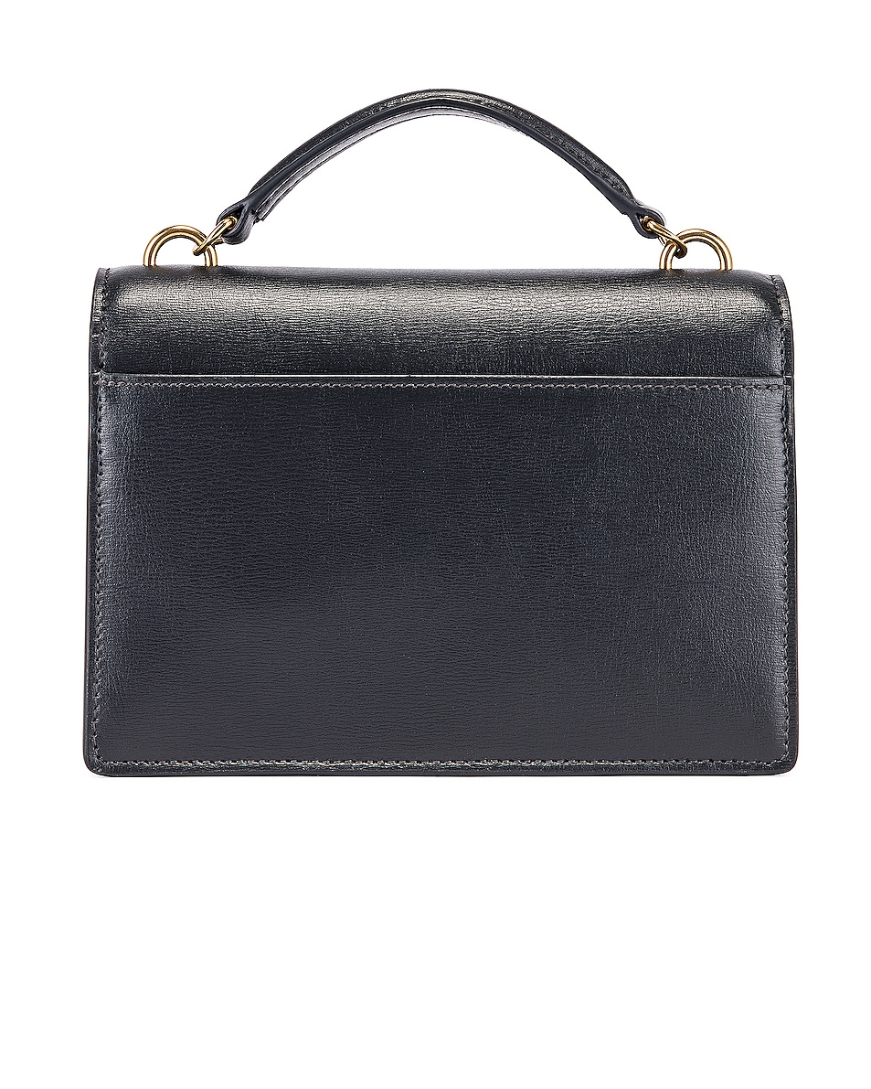 Image 3 of Saint Laurent Sunset Monogramme Crossbody Bag in Dark Smog