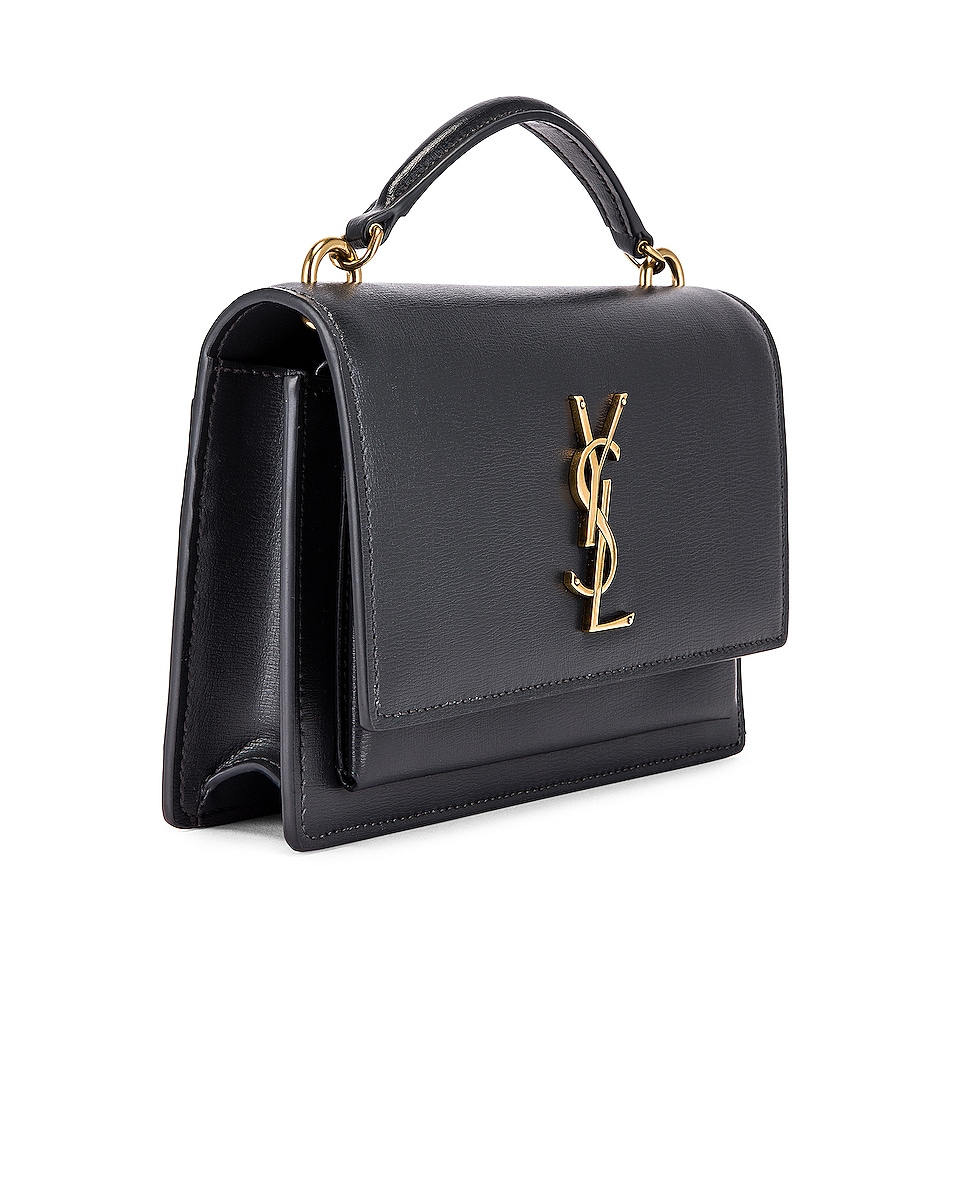 Image 4 of Saint Laurent Sunset Monogramme Crossbody Bag in Dark Smog