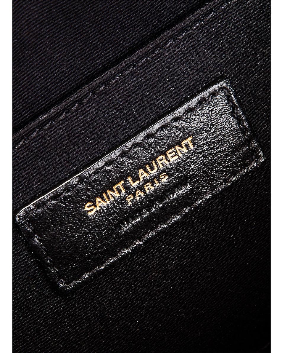 Image 7 of Saint Laurent Monogramme Lou Satchel Crossbody Bag in Black & Natural