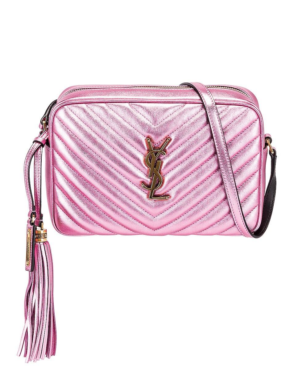 Image 1 of Saint Laurent Medium Monogramme Lou Satchel Bag in Vegas Pink