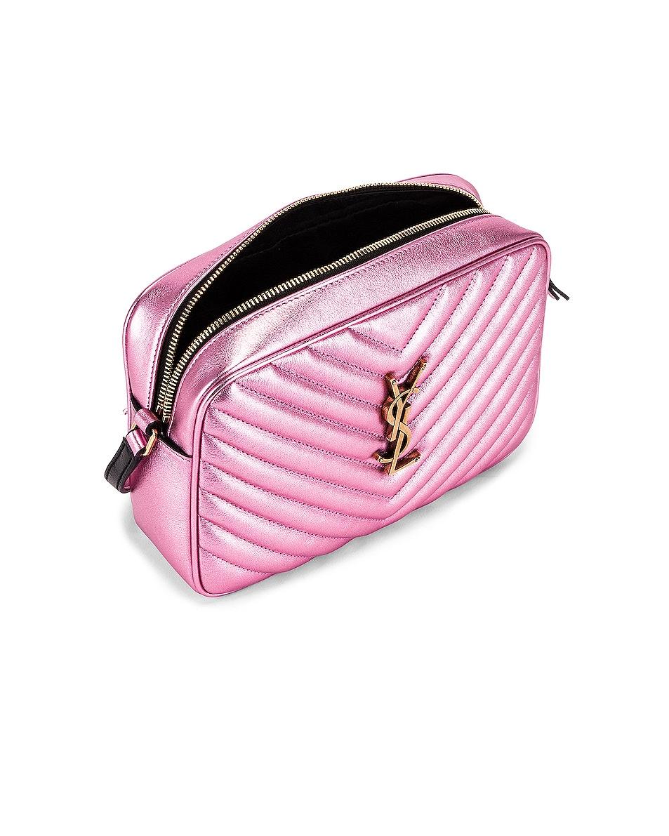 Image 5 of Saint Laurent Medium Monogramme Lou Satchel Bag in Vegas Pink