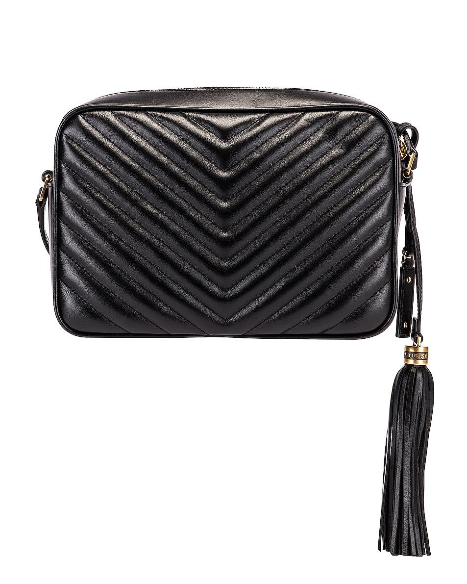 Image 2 of Saint Laurent Medium Monogramme Lou Satchel Bag in Black