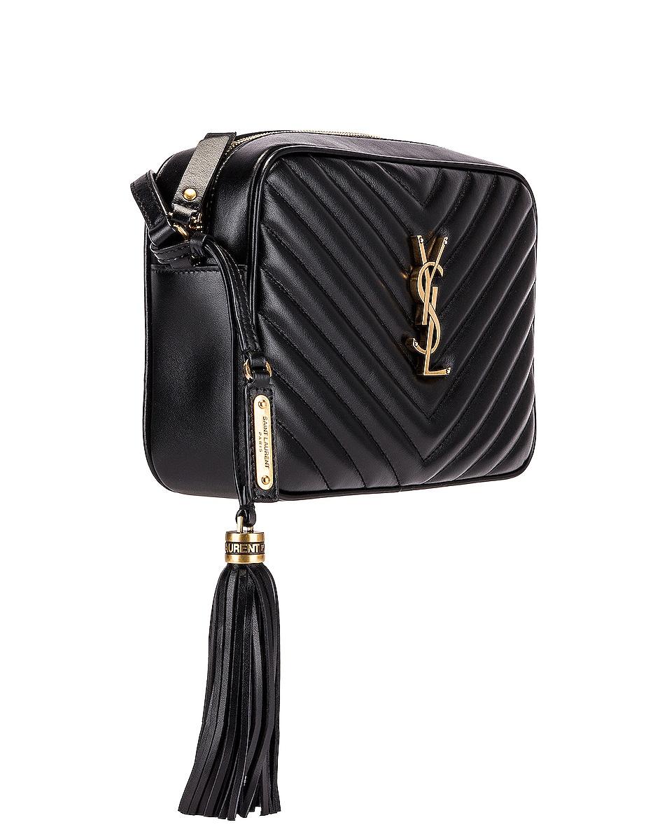 Image 3 of Saint Laurent Medium Monogramme Lou Satchel Bag in Black