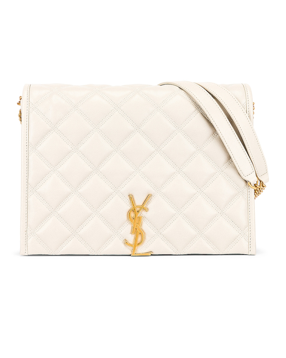 Image 1 of Saint Laurent Small Becky Bag in Crema Soft