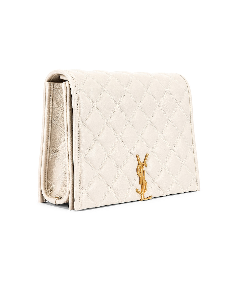 Image 4 of Saint Laurent Small Becky Bag in Crema Soft