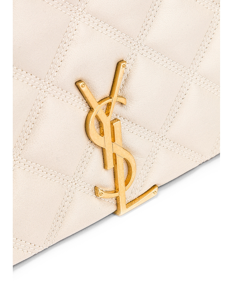 Image 8 of Saint Laurent Small Becky Bag in Crema Soft