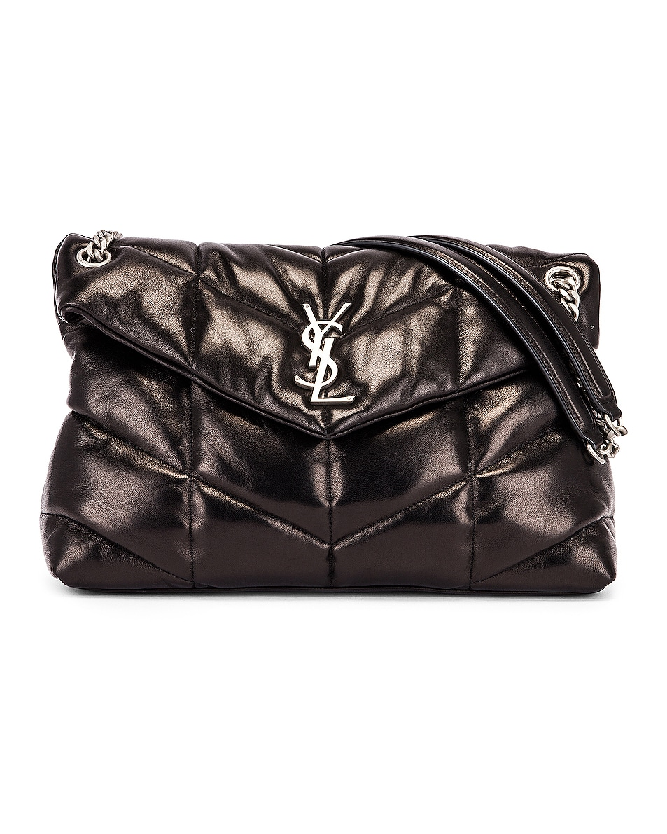 Image 1 of Saint Laurent Medium Monogramme Puffer Loulou Shoulder Bag in Black