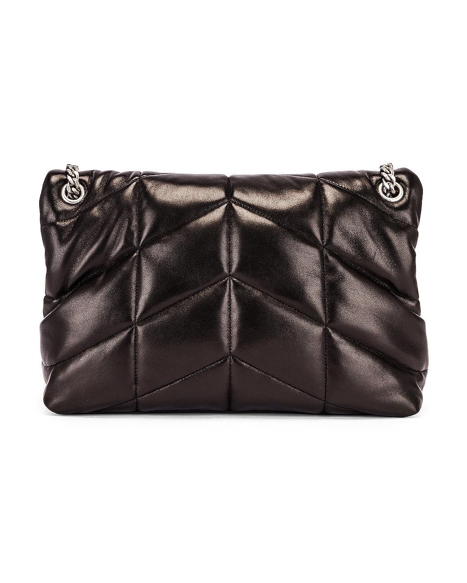 Image 3 of Saint Laurent Medium Monogramme Puffer Loulou Shoulder Bag in Black