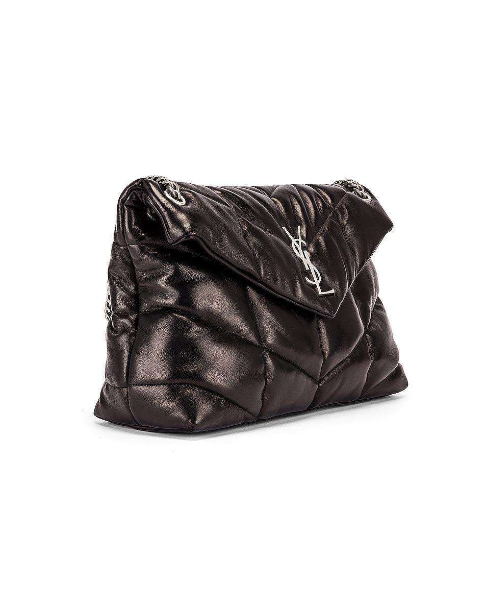 Image 4 of Saint Laurent Medium Monogramme Puffer Loulou Shoulder Bag in Black