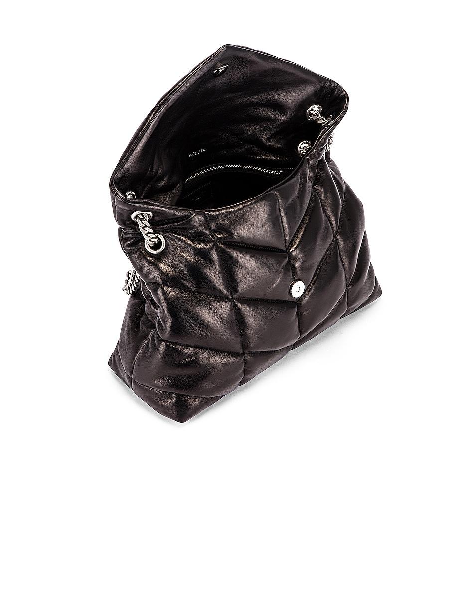 Image 5 of Saint Laurent Medium Monogramme Puffer Loulou Shoulder Bag in Black
