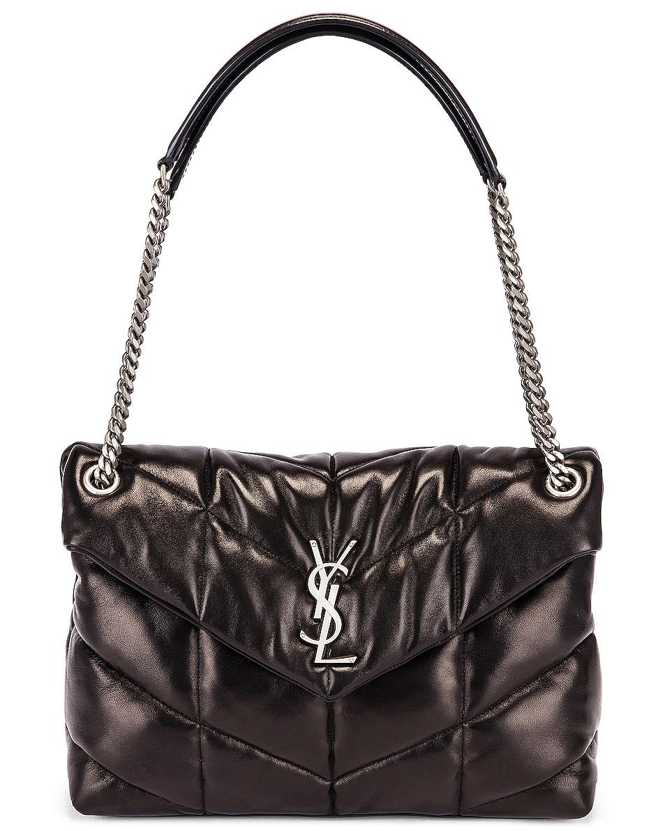 Image 6 of Saint Laurent Medium Monogramme Puffer Loulou Shoulder Bag in Black