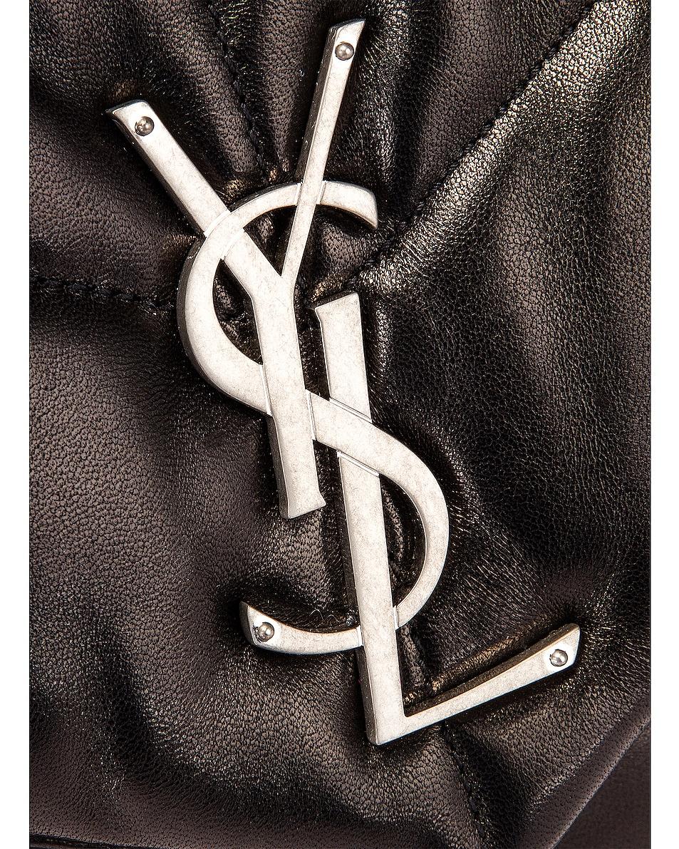 Image 8 of Saint Laurent Medium Monogramme Puffer Loulou Shoulder Bag in Black