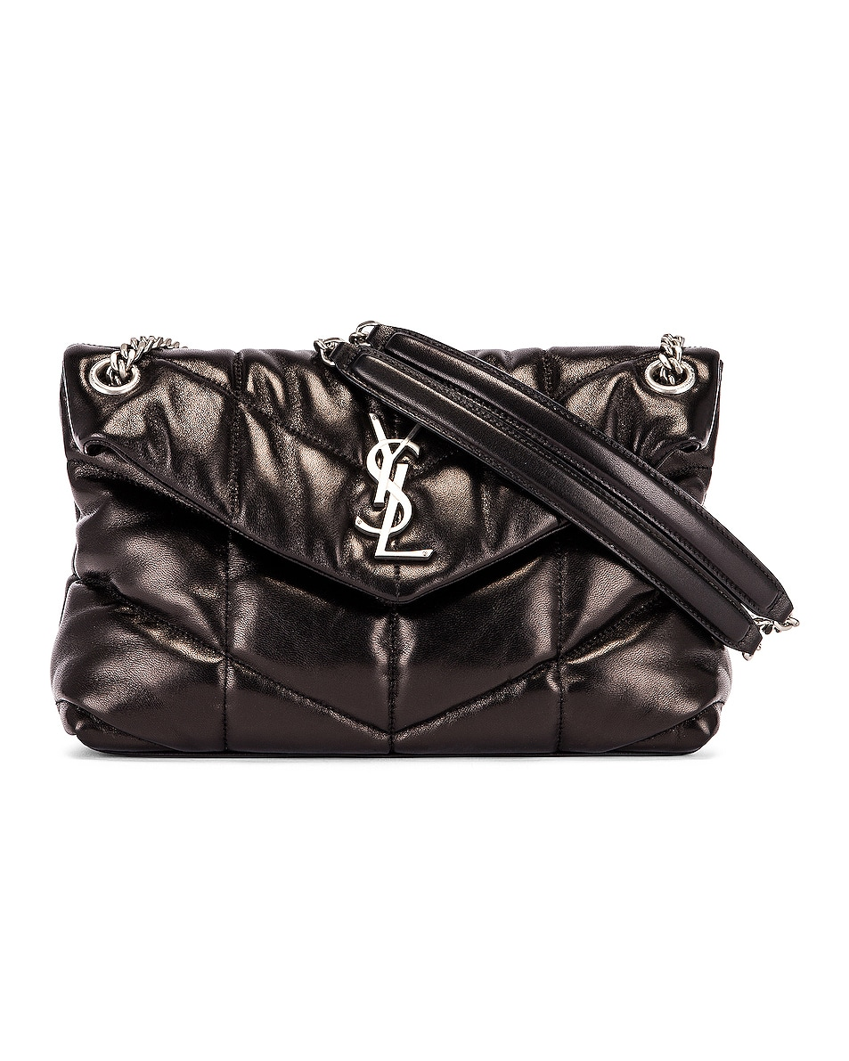 Image 1 of Saint Laurent Small Monogramme Puffer Loulou Shoulder Bag in Black