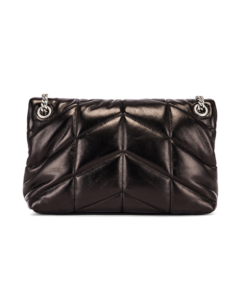 Image 3 of Saint Laurent Small Monogramme Puffer Loulou Shoulder Bag in Black