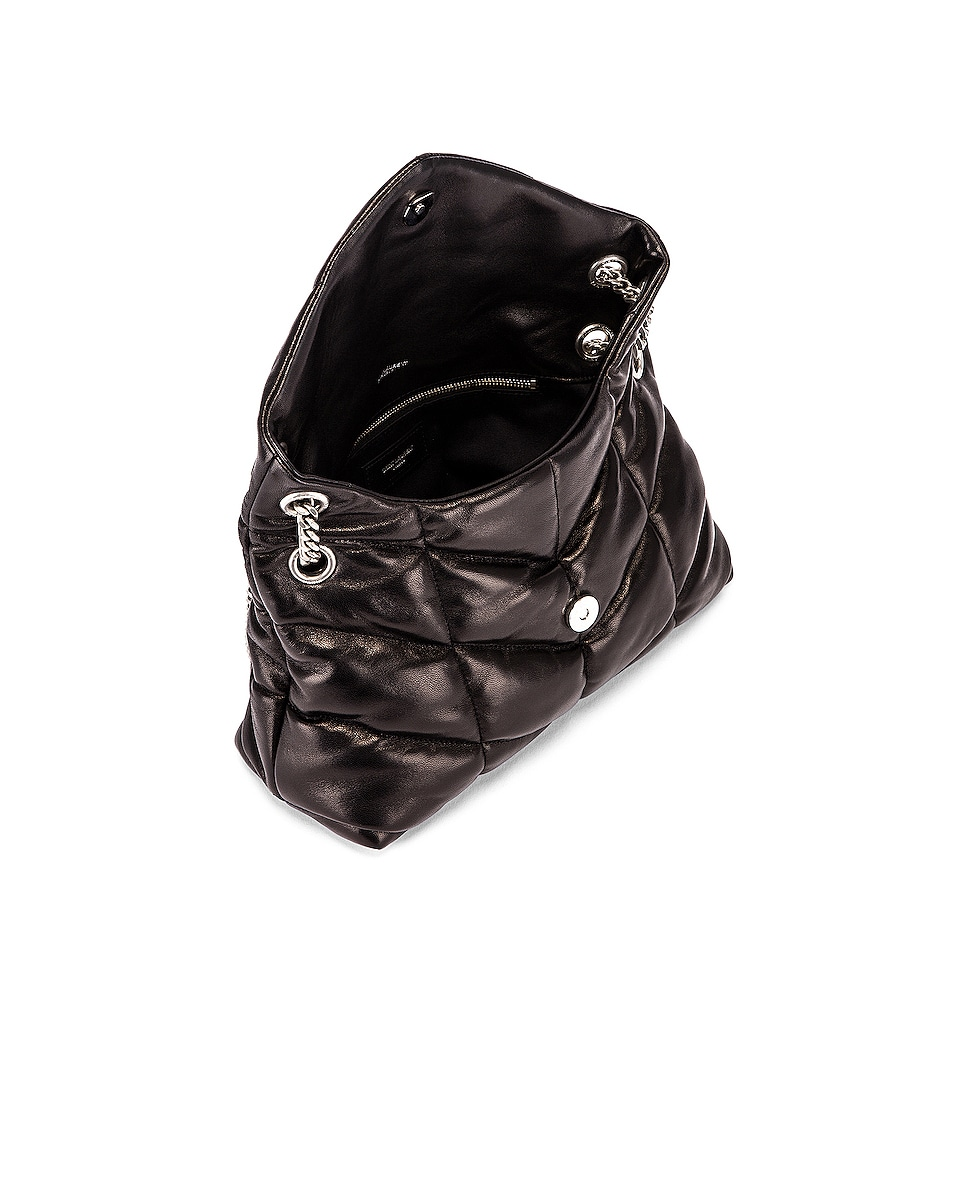 Image 5 of Saint Laurent Small Monogramme Puffer Loulou Shoulder Bag in Black