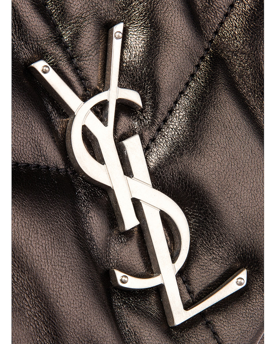 Image 8 of Saint Laurent Small Monogramme Puffer Loulou Shoulder Bag in Black
