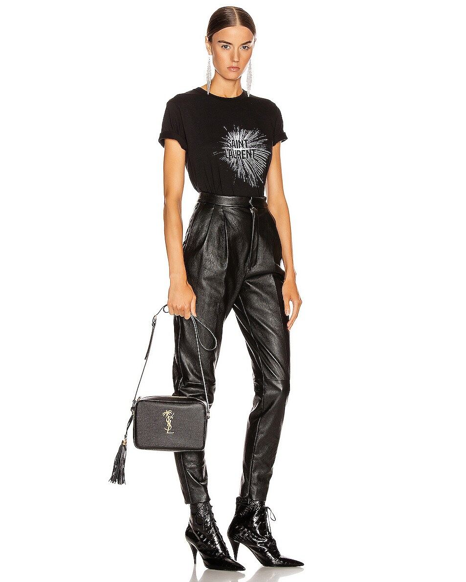 Image 2 of Saint Laurent Medium Monogramme Palm Lou Crossbody Bag in Black