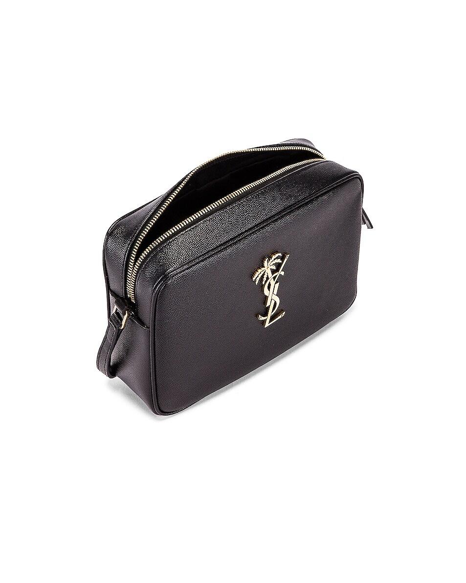 Image 5 of Saint Laurent Medium Monogramme Palm Lou Crossbody Bag in Black