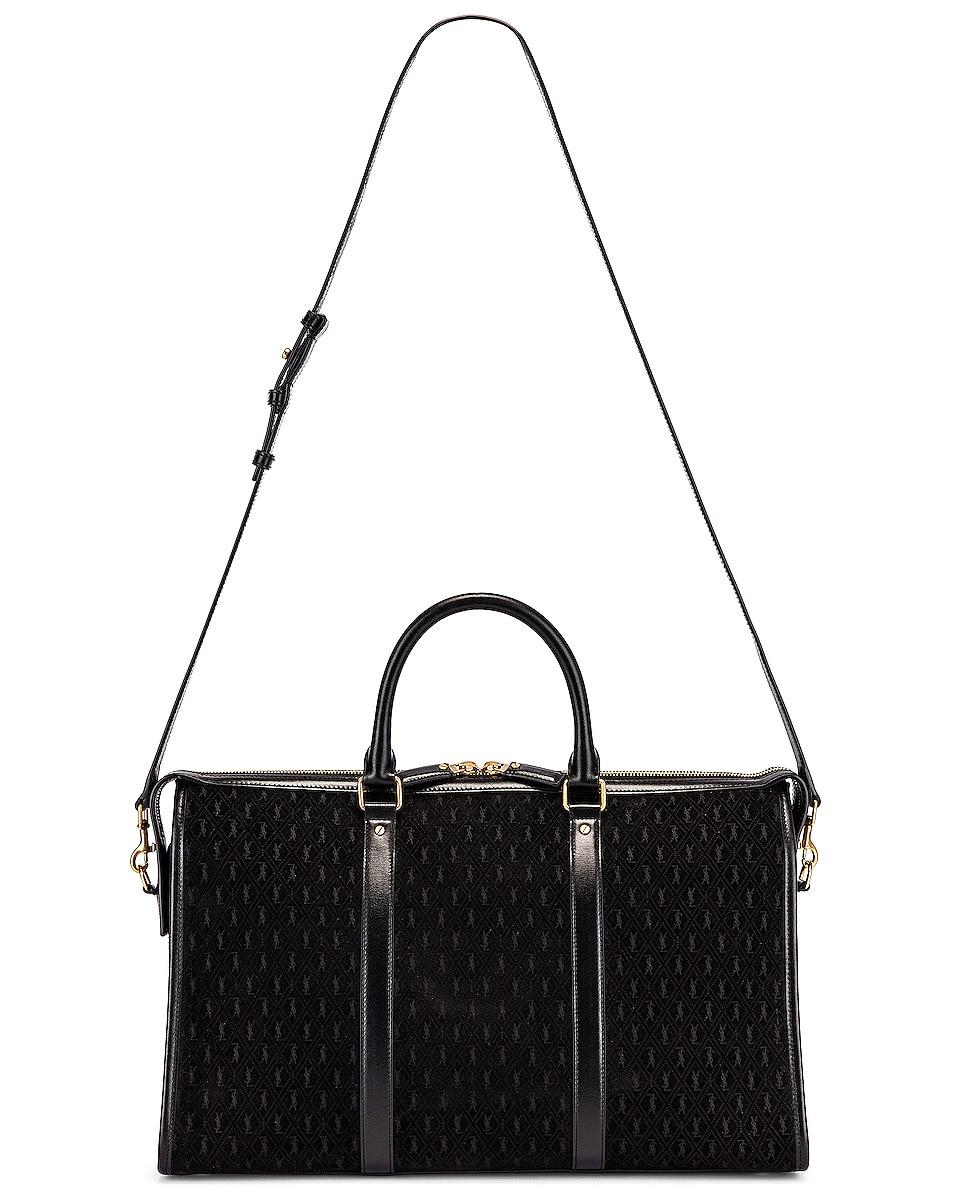 Image 5 of Saint Laurent Suede Monogramme Duffel Bag in Black