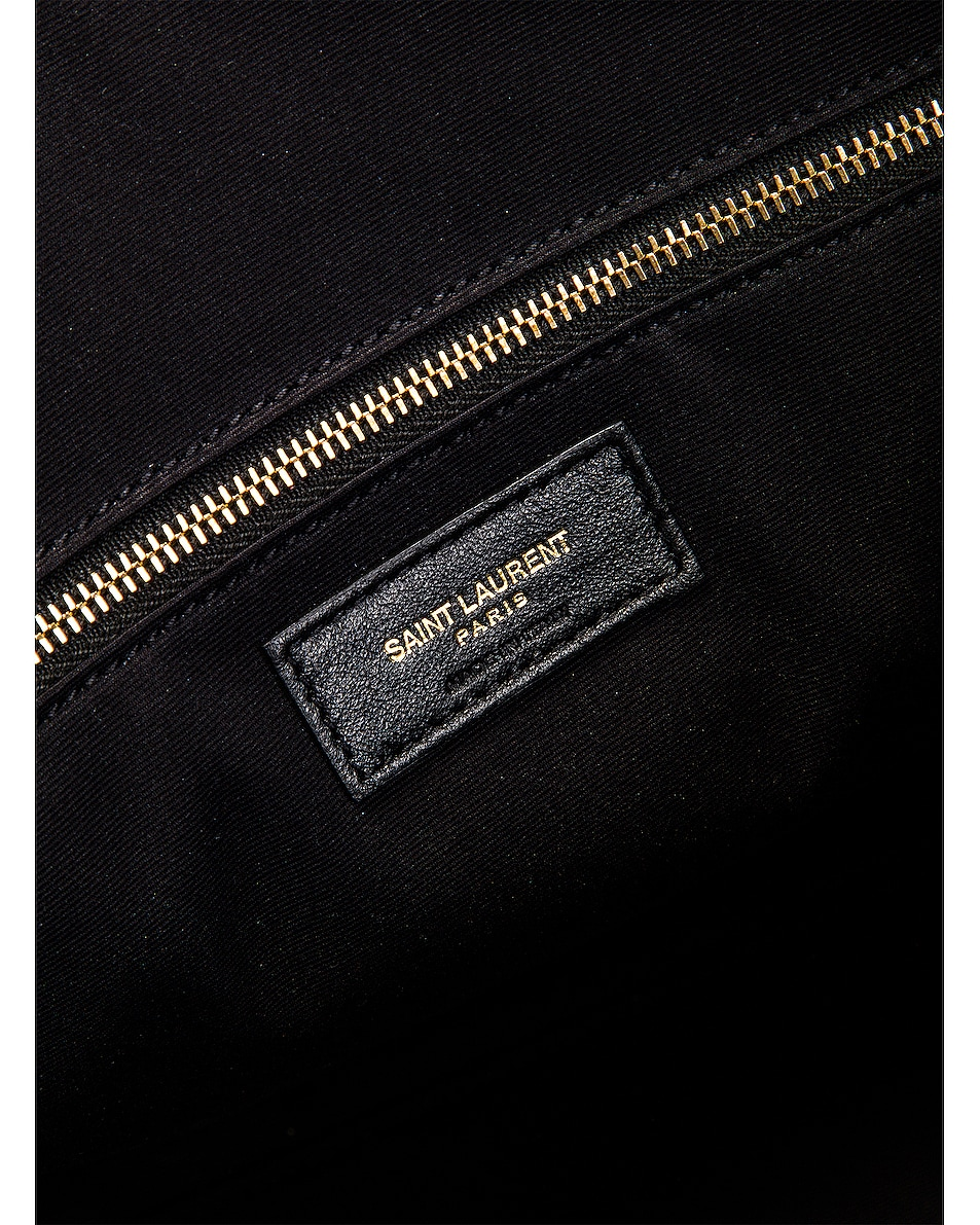 Image 6 of Saint Laurent Suede Monogramme Duffel Bag in Black