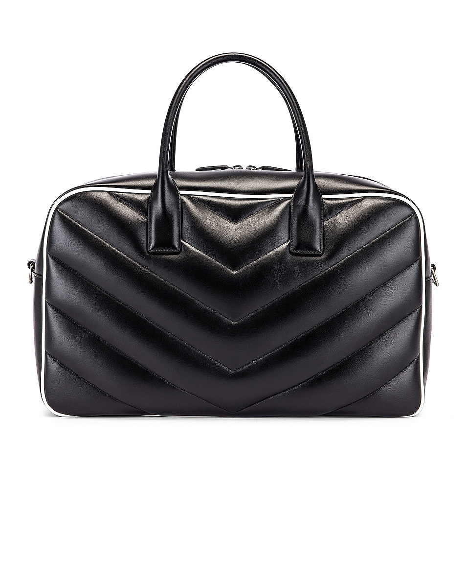 Image 3 of Saint Laurent Medium Bowling Bag in Black & White